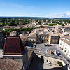 UZES. FRANCE. VIEW AT UZES FROM DUCHE D'UZES.