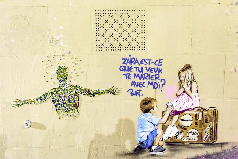 PARIS. MURAL. STREET ART. SACRE COEUR DE PARIS.
