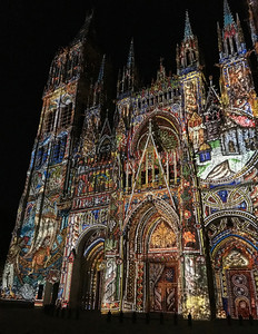 Rouen Cathedral Light Show