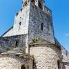 Exterior of the Saint Michel church in La Garde Adhemar, Drôme, France, Europe