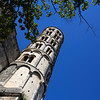 UZES. FRANCE. BELL TOWER OF THE CHURCH.