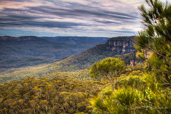 Blue Mountains from Gordon Falls Lookout, Australia