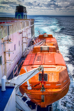 Lifeboats, Ferry to South Island, New Zealand