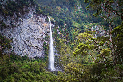 Waterfall, Campbell's Kingdom, Fiordland National Park, New Zealand