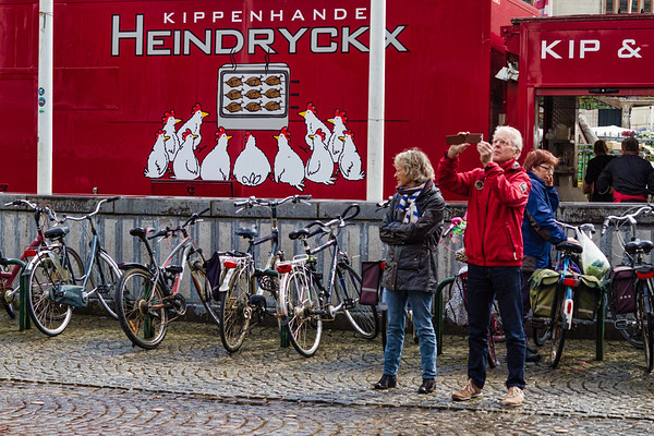Photographing the Market, Bruges, Belgium