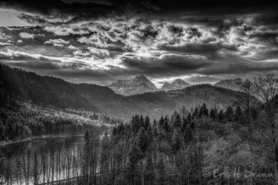 The Alps from Hohenschwangau Castle, Bavaria, Germany