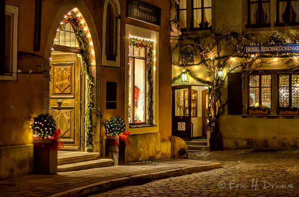 Christmas Card Perfect, Rothenburg ob der Tauber, Germany