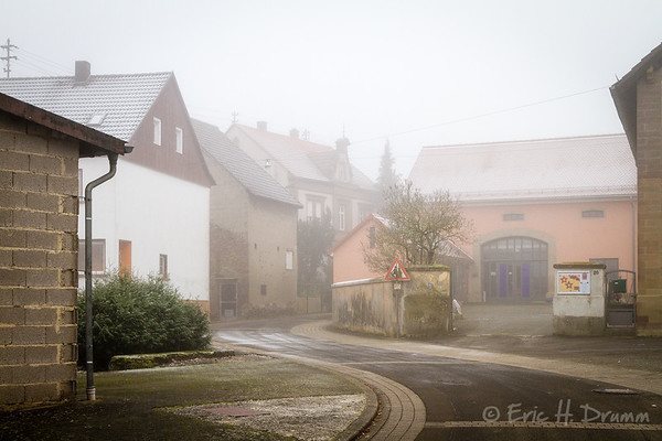 Einöllen Foggy Streetscape, Germany