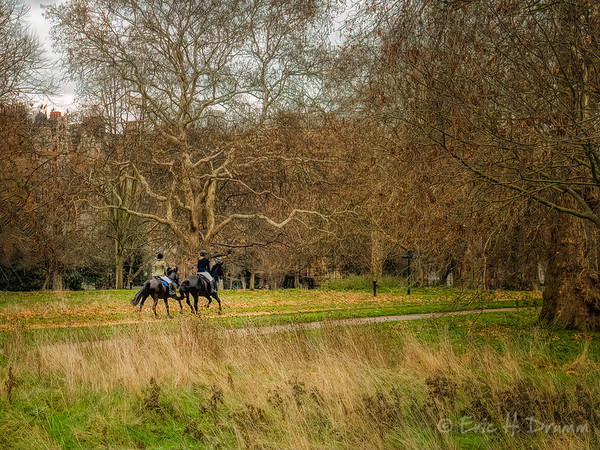 Riding in Hyde Park, London, England