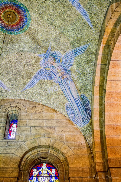 Mosaics Angel. St Anne's Cathedral, Belfast, Northern Ireland