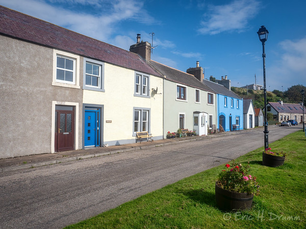 Colourful Harbourside Houses, Helmsdale, Scotland