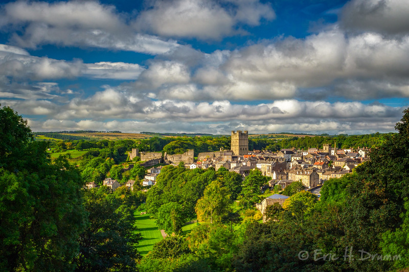 View over Richmond Town, Yorkshire