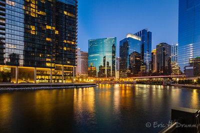 Blue Hour near Wolf Point, Chicago River, IL