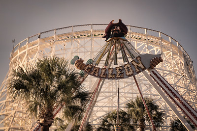 Roller Coaster and Galleon, Myrtle Beach, SC, USA