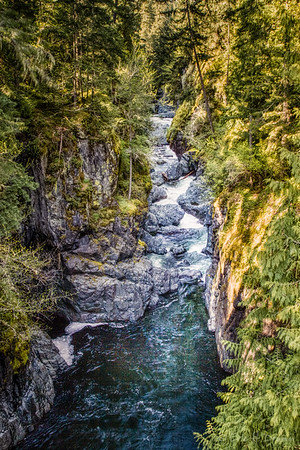The Gorge at Englishman River Falls , Vancouver Island, BC
