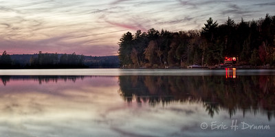 The Last Cottage Light, Eagle Lake, Machar Township, Ontario