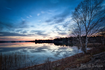 Sunset before the Supermoon, Eagle Lake, Machar, Ontario