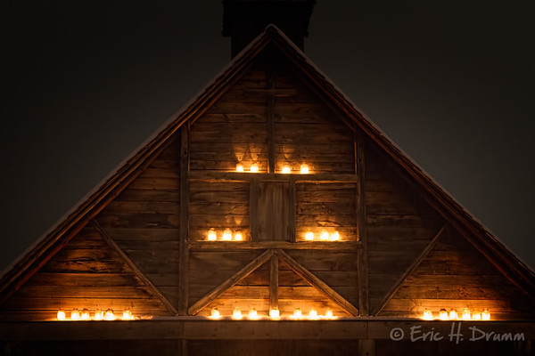 All Lite Up, Sainte-Marie Among the Hurons, First Light, Midland, Ontario