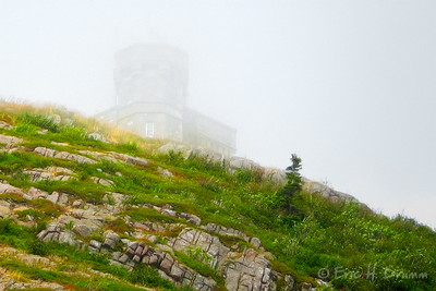 Cabot Tower through the Fog, St. Johns, Newfoundland