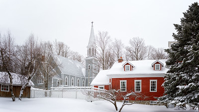 Historic Church and School House, Georgeville, Quebec