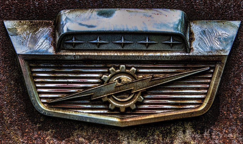 Ford Pickup Truck Front Hood Emblem, McLean's Auto Wreckers, Milton, Ontario