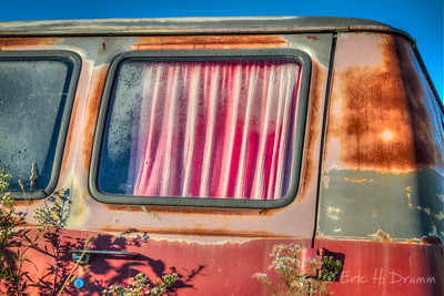 Faded Curtains, McLean's Auto Wreckers, Milton, Ontario