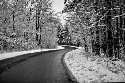 Early Snow, Bass Lake Road, Oro-Medonte, Ontario