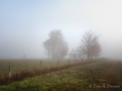 Foggy Morning, West Oro Baptist Church, Horseshoe Valley, Ontario