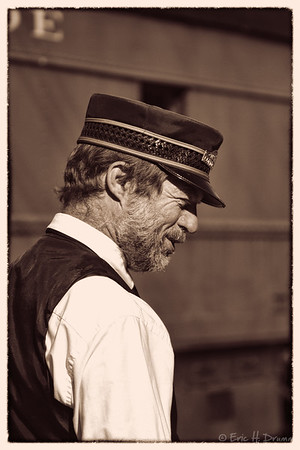 Conductor, South Simcoe Steam Railway, Tottenham, Ontario