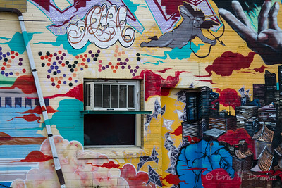 Painted Wall, Off Spadina Avenue, Toronto, Ontario