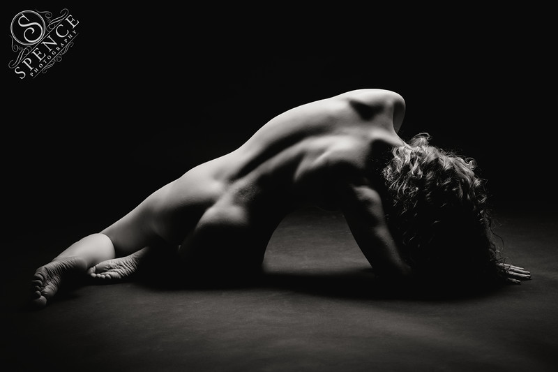 Ivory Flame studio nude on black