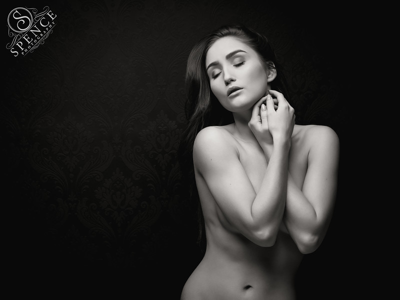 Rachelle - studio nude on black