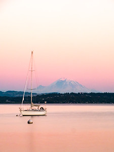 Mt. Rainier and Lake Washington