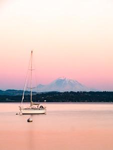 Mt. Rainier and Lake Washington