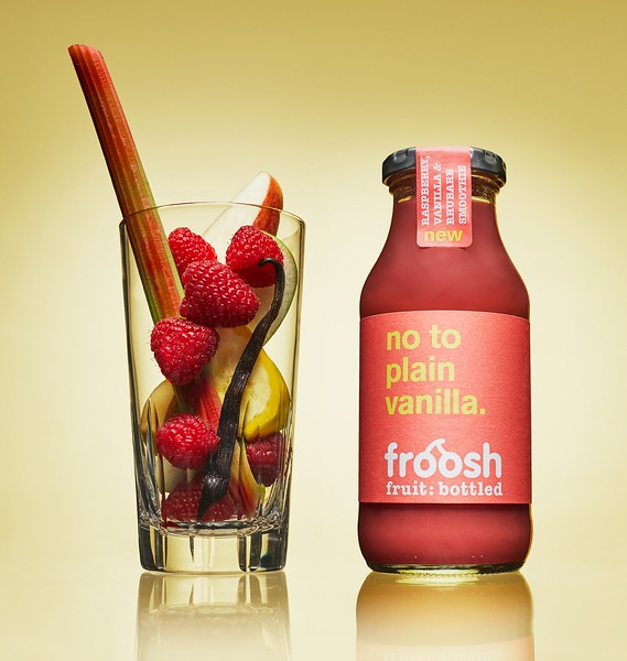 Raspberry, rhubarb, vanilla smoothie, 250ml 7350020723773