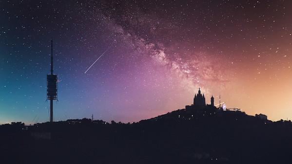 Tibidabo Night Sky Replacement