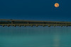 Moonset Over Three Bridges
