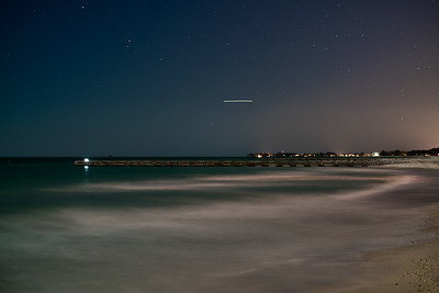 Bradenton Beach Under the Light of a Nearly Full Moon