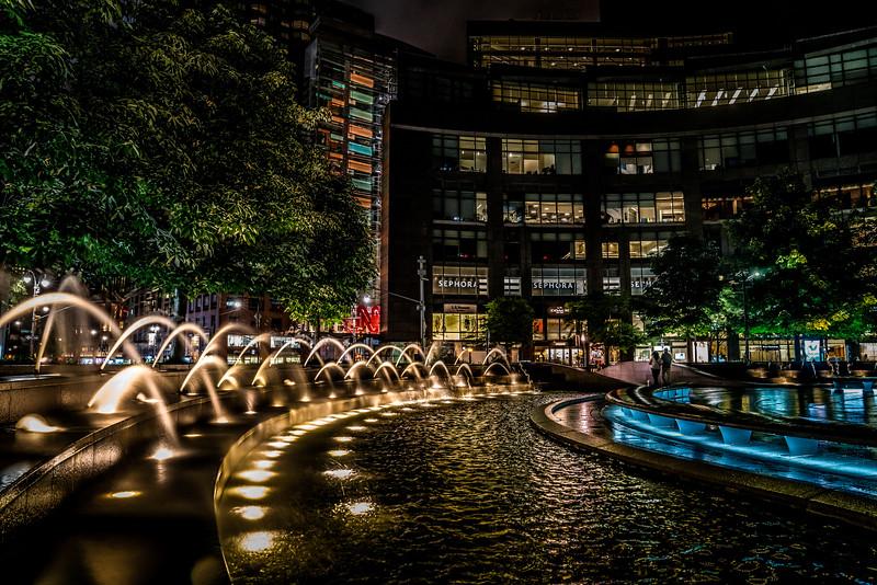 Columbus Circle ar Midnight