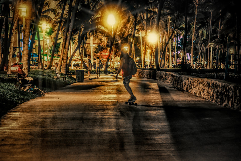 Lummus Park at Night