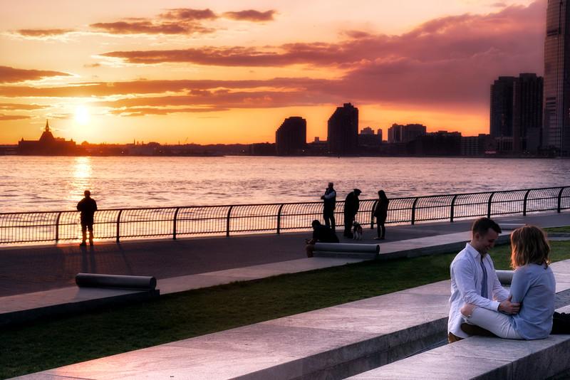 Romantic Sunset at Battery Park