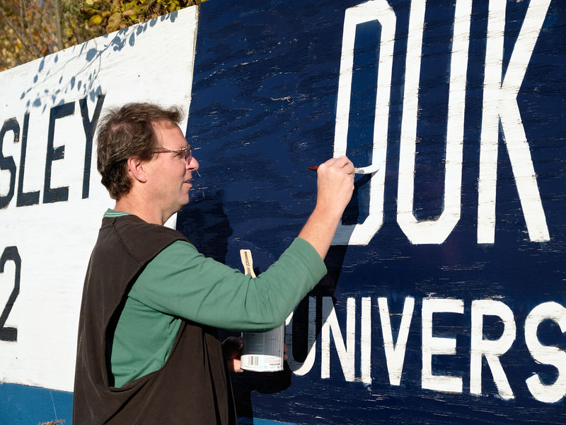 Bill works on the Duke University sign in right field.  He tells me he spends some time down at Duke and he mentioned this field to the Bishop there.  He's promised them a picture.