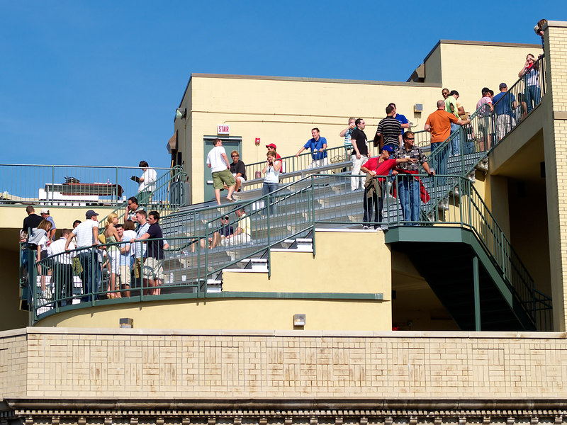 More of those darn bleachers on the roof tops.  This one is across the street from right field on Sheffield.