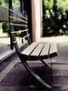 benches, galvanised steel & oak,  hulme 1993
