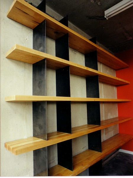 Maple & steel shelves 1997
