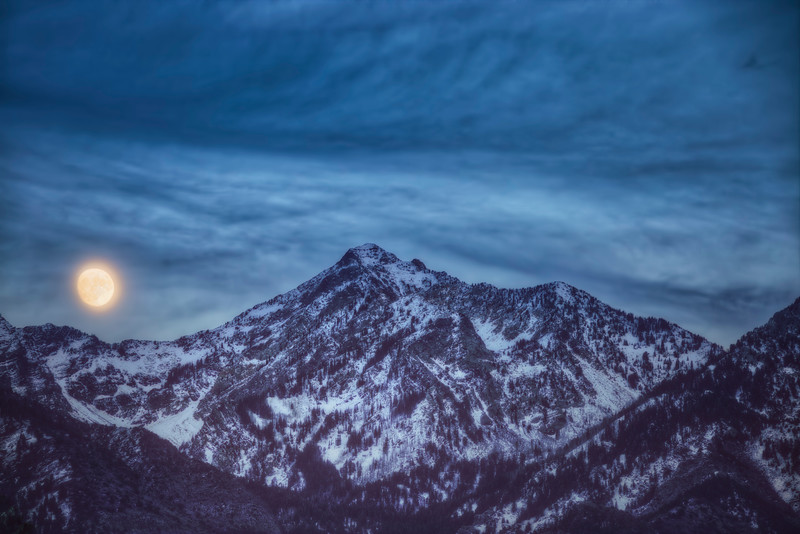 Moonlit Night Along the Wasatch Mountains