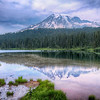 Mount Rainier Reflection Lake Landscape