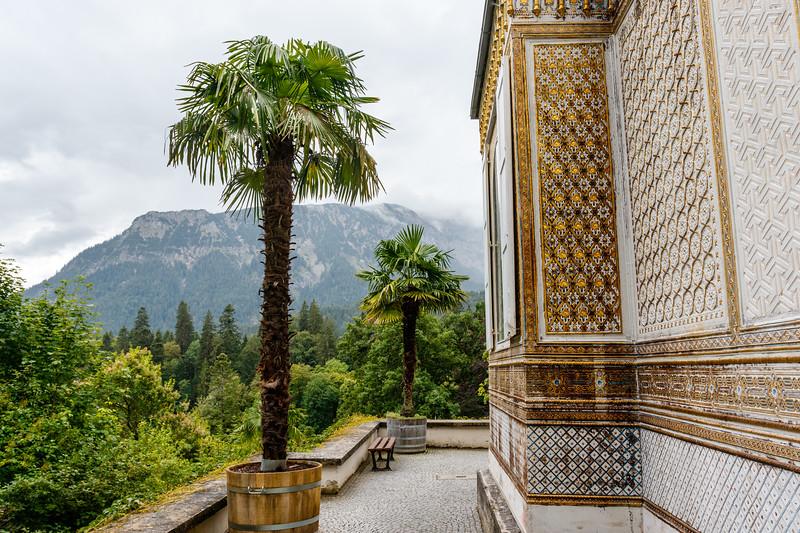 Moorish Kiosk in the park of Linderhof palace in Bavaria, Germany, Europe