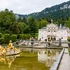Park of Linderhof palace in Bavaria, Germany, Europe