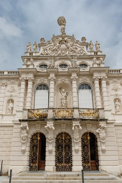 Facade of Linderhof Palace , Bavaria, Germany, Europe